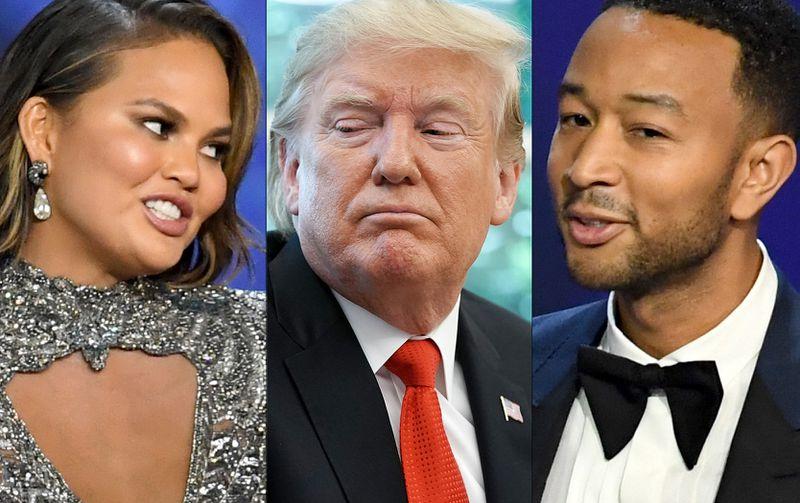 John Legend dan Chrissy Teigen Balas Kicauan Donald Trump