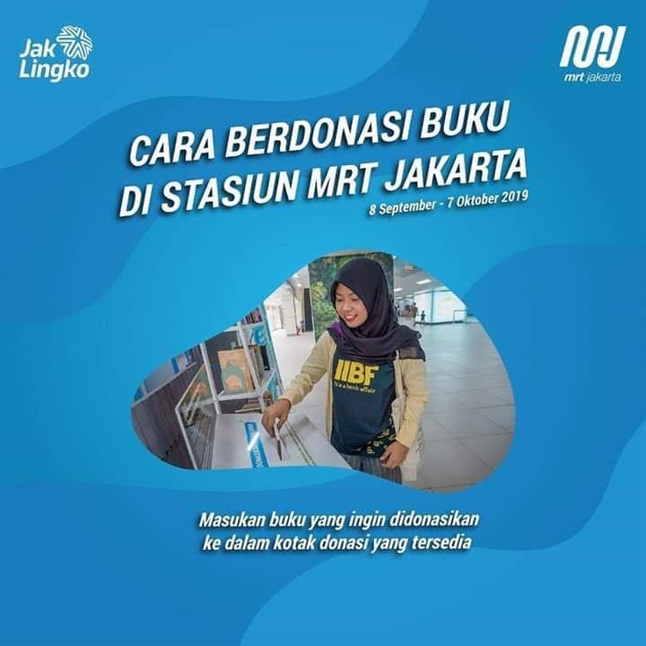 Cara Donasi dan Pinjam Buku di Stasiun MRT Jakarta