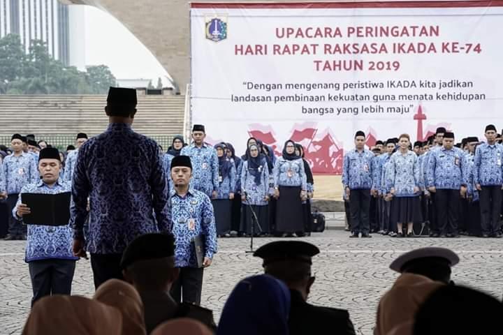 Anies Baswedan Pimpin Upacara Peringatan Rapat Raksasa IKADA di Monas