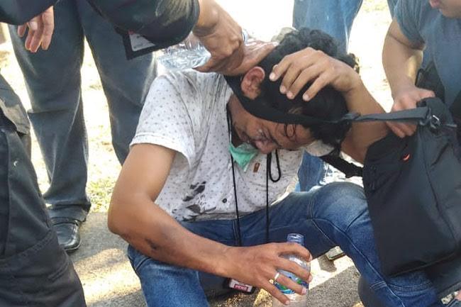 Kronologis Penganiayaan Wartawan Oleh Aparat Saat Liput Demo Mahasiswa Makassar