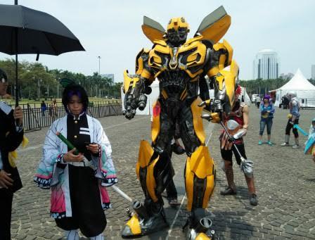 Dari Robot Transformers Hingga Elder ScrollHibur Pengunjung di Jakarta Cosplay Parade 2019