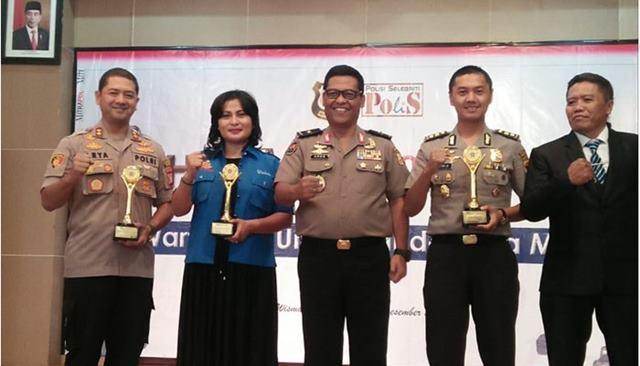Sejumlah Polisi Berprestasi Terima Mitrapol Award 2019