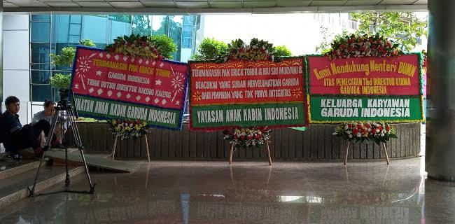 Dirut Garuda Dicopot, Sejumlah Asosiasi Penerbangan Kirim Karangan Bunga