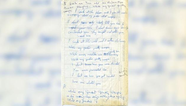 Tulisan Tangan Lirik Lagu Beatles Dilelang Rp2,7 Milliar