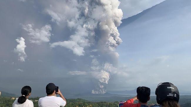 Ibu Kota Manila Lumpuh Akibat Aktivitas Vulkanik Gunung Taal Filipina
