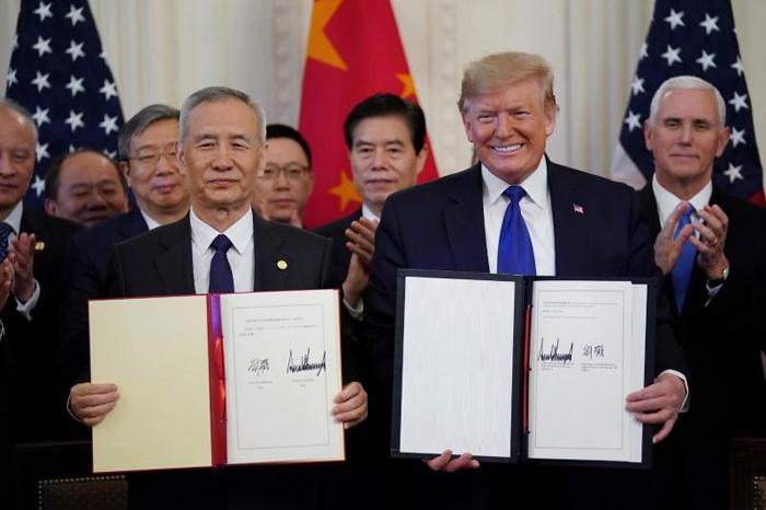 Poin-Poin Kesepakatan Fase I Amerika Serikat dan China