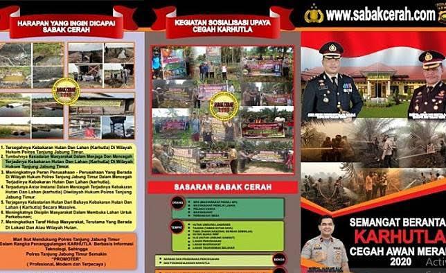 Cegah Karhutla, Polres Tanjab Timur Jambi Luncurkan Websitesabakcerah.com