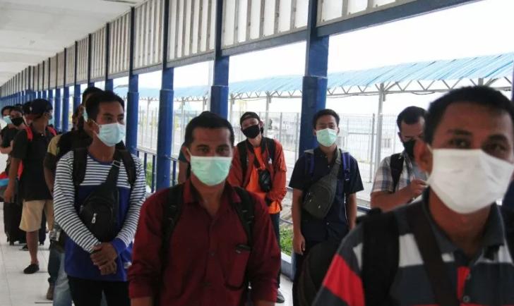 Pandemi Covid-19, 4.444 TKI dari Malaysia Pulang Lewat Pelabuhan Riau