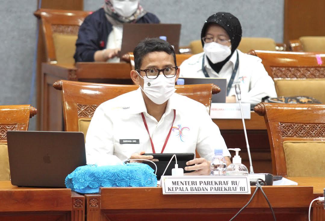 Komisi X Raker Dengan Kemenparekraf Setujui Penambahan Pagu Indikatif RAPBN 2022